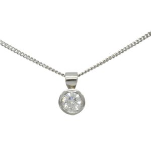 Classic Diamond pendant with bail