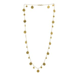 Opera Length Gold Disc Necklace