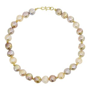 Multi Colour Baroque Pearl Necklace