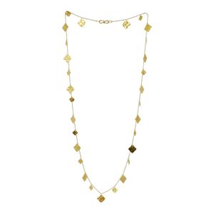 Opera Length Gold Squares Necklace