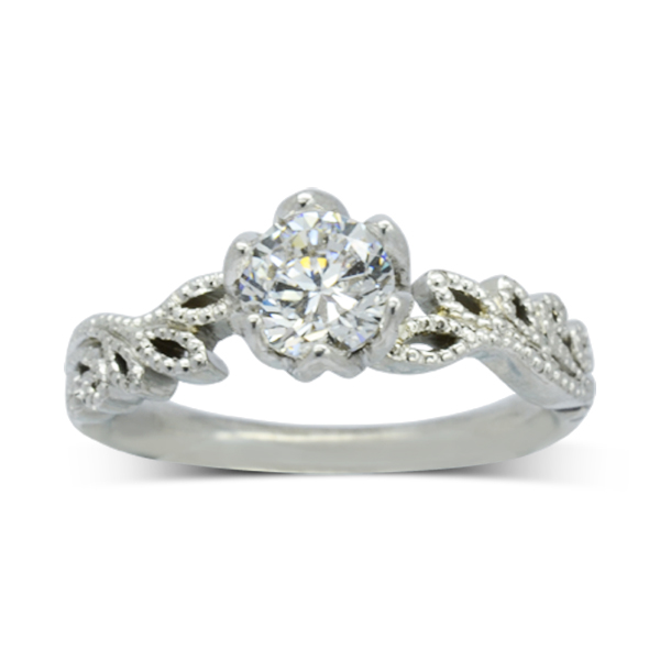 vintage style engagement ring pruden and smith sussex
