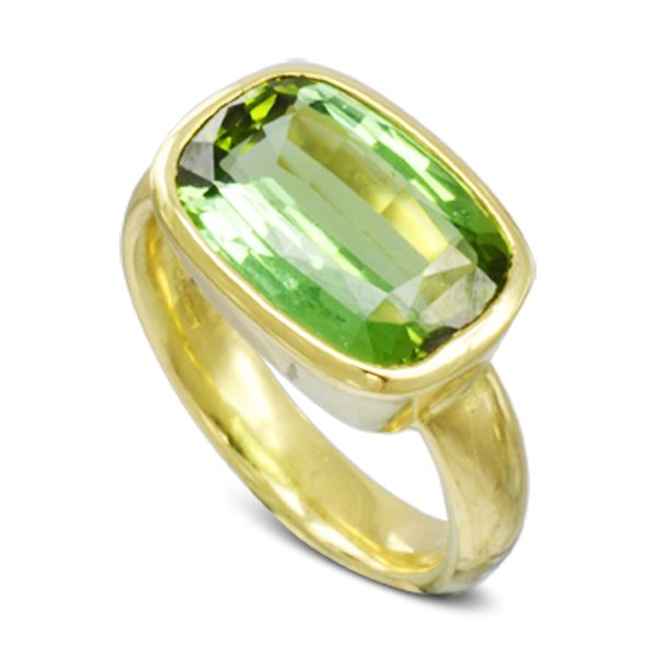 Green Tourmaline Dress Ring