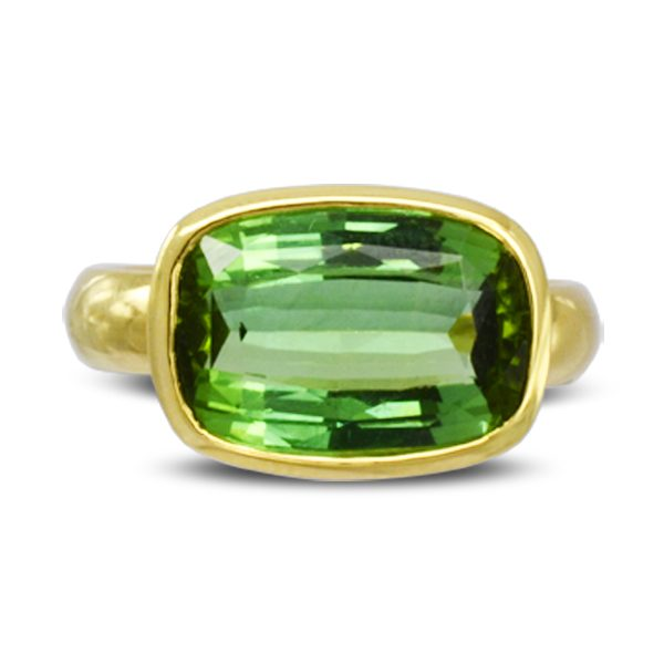 unusual Green Tourmaline statement Ring