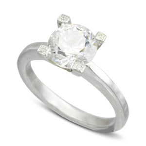 Diamond Claw Engagement ring