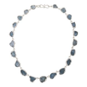 Rough Aquamarine Silver Necklace