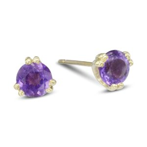 double claw amethyst earstuds