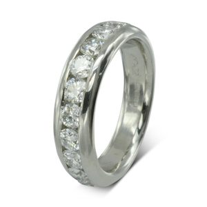 2ct Diamond Court Eternity Ring