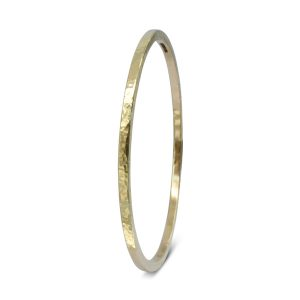 Hammered Gold Square Bangle