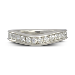 Pave set curved to fit eternity ring