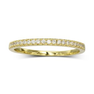slim pave set diamond eternity ring