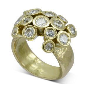diamond tube cluster ring