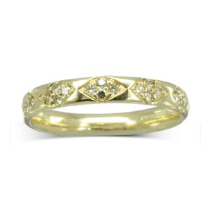 Vintage Look Diamond Pattern Eternity ring