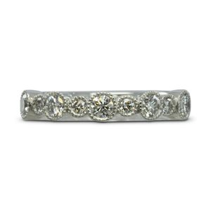 Vintage Look Alternating Diamond Pattern Eternity Ring
