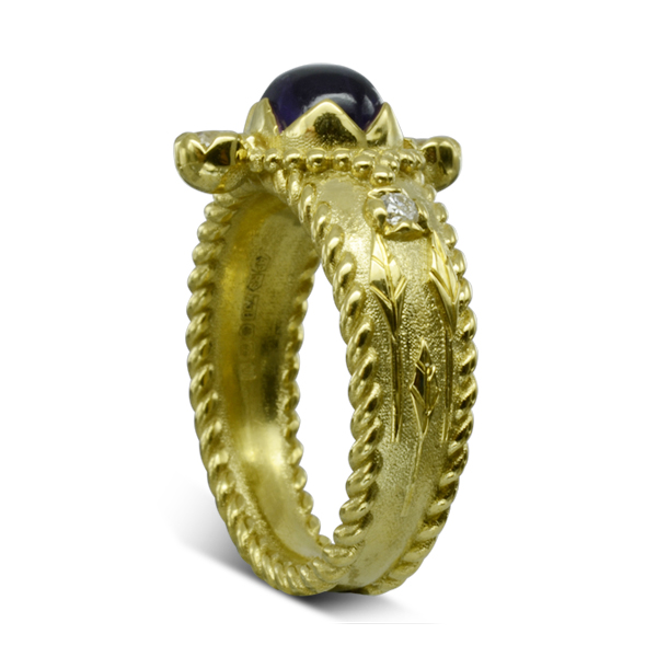 roman Inspired Gold Ring