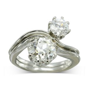 offset diamond wave ring