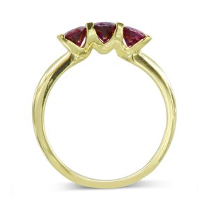 Ruby Trilogy Anniversary Ring