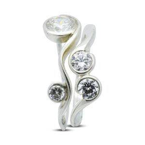 Diamond Organic Form Swirl Ring