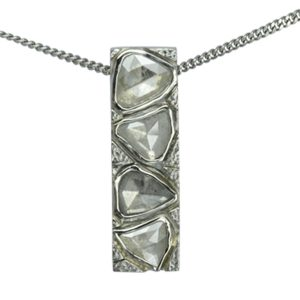 rough diamond bar pendant