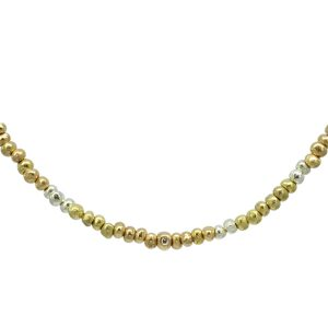Three Colour Gold Nugget Necklace