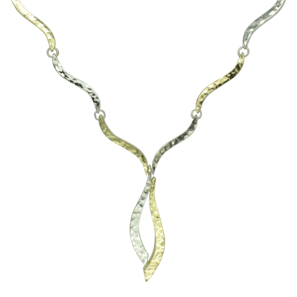 Two Color Gold Forged necklace