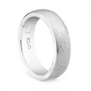 Hinged Hammered Wedding Band