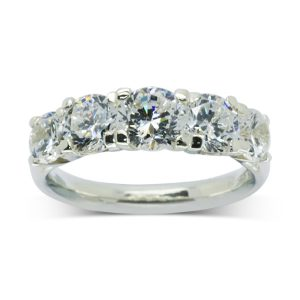 Pruden and smith classic five diamond eternity ring