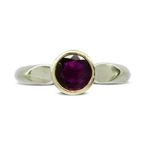 ruby teardrop shoulder ring