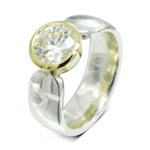 2ct Diamond Modern Engagement Ring