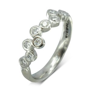 Diamond Bubbles Eternity Ring