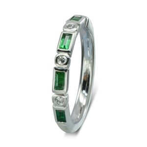 Emerald Baguette Diamond Eternity Ring