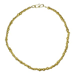 random gold nugget necklace