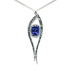 Tanzanite Forged Pendant