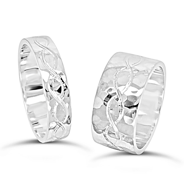 Men's Wedding Bands Style Guide: engraved pattern