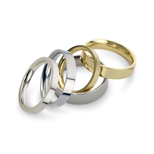 Men's Wedding Bands Style Guide: low court wedding bands: flat wedding bands