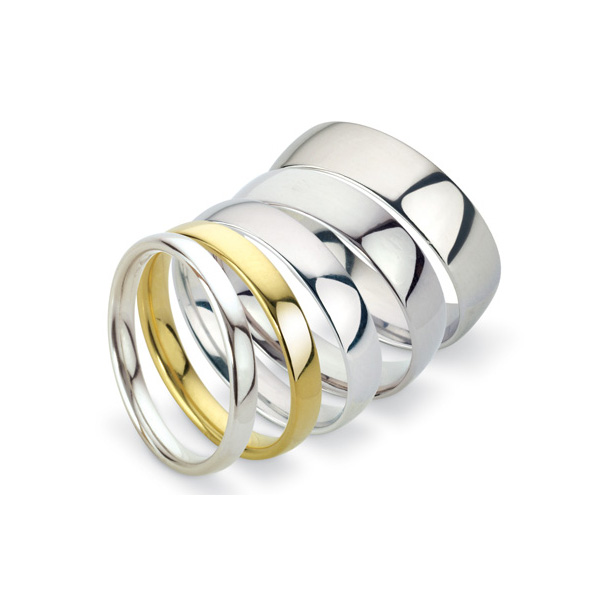 Men's Wedding Bands Style Guide: low court wedding bands