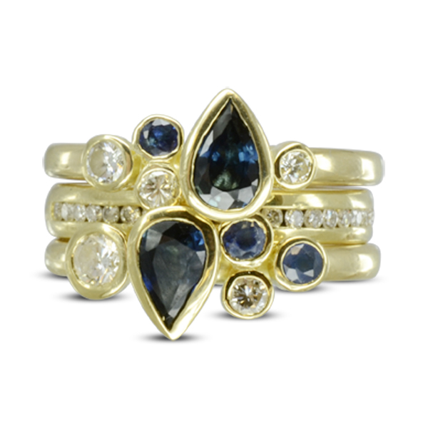 Sapphire Stacking Cocktail Ring