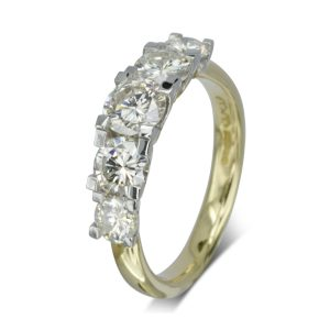 Five diamond Claw Set eternity ring