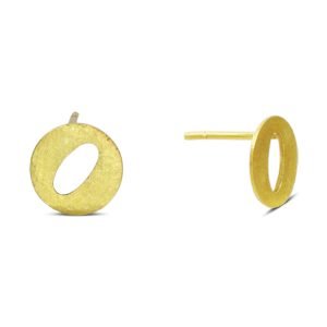 O Earstuds Gold Vermeil or Silver