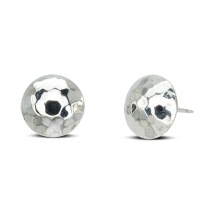 hammered silver earstuds