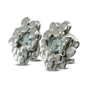 White gold rockpool earstuds