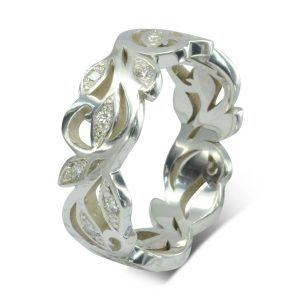Vine Pattern diamond eternity ring