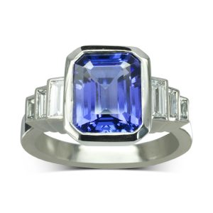 Tanzanite Art Deco Inspired Ring