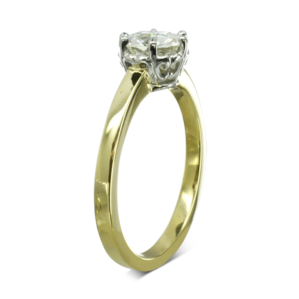 Vintage Look engagement ring