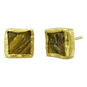 Tigers Eye Small Earstuds Square
